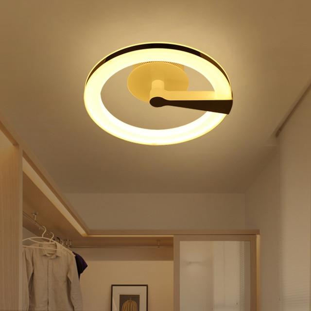 € 122.02 |Nordique LED anneau plafonniers creative canal chambre couloir  d\'entrée accueil lanternes salon plafond grenier lampes ZA FG154 dans ...