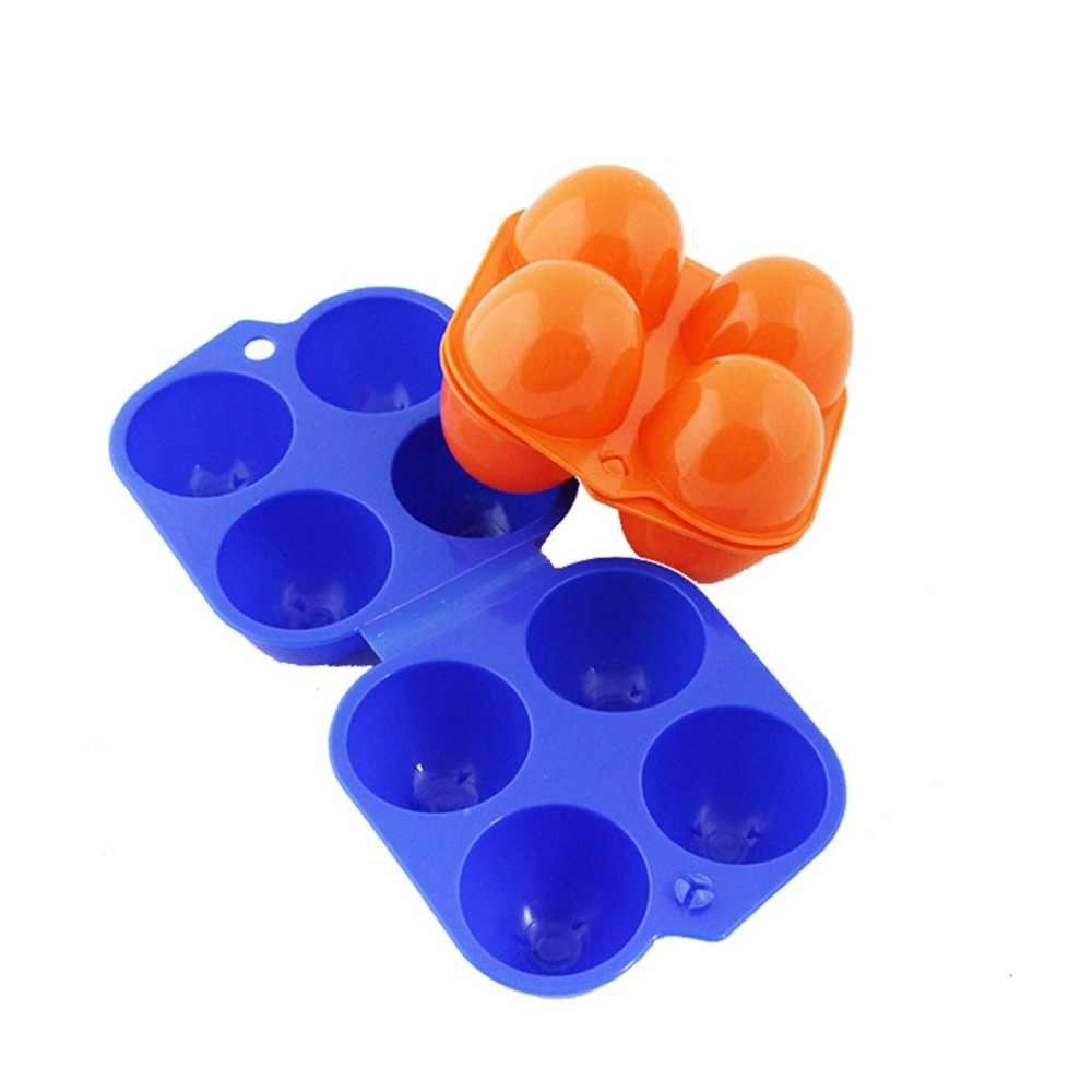 4 grades Ovo Ovo Recipiente Caixa Titular Caixa De Armazenamento De Cozinha Portátil Caso Portador de Ovos Frescos para Caminhadas Acampamento Ao Ar Livre