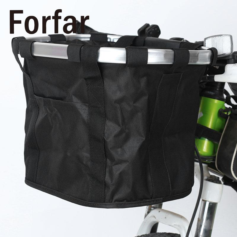 Bicycle Basket Bike Cycle Aluminum Frame Detachable Front Folding Shopping Bag