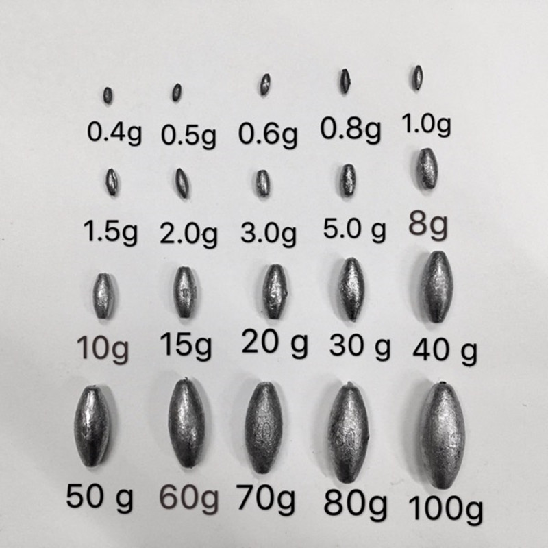 0 4g 5g 10 Sizes Lead pendant lead fall for fishing Increased fish net lead sinker lead pendant for fishing net network YW 232 in Fishing Tools from Sports Entertainment