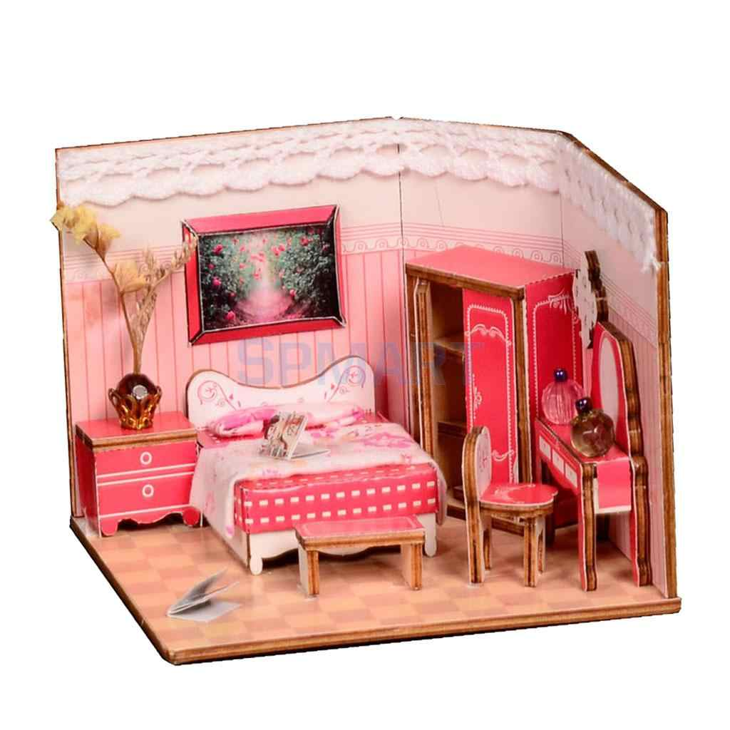Detail Feedback Questions About 1 24 Diy Dolls House Wood Dollhouse