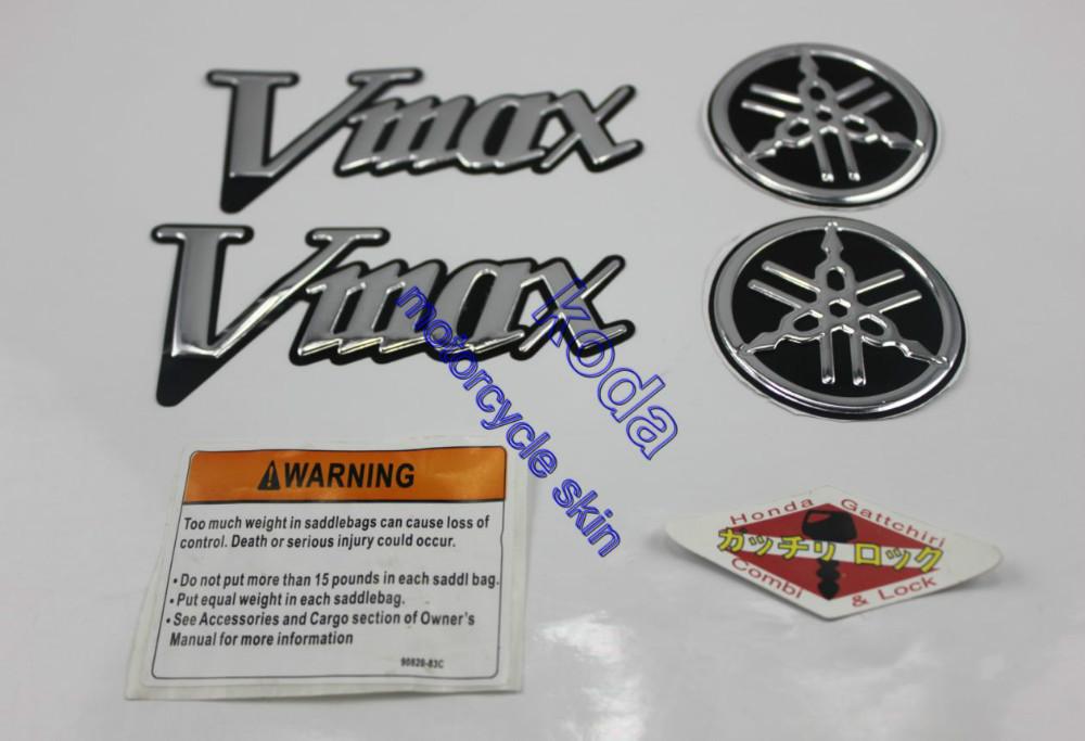 Prix pour Livraison Gratuite Moto stickers Autocollants Carénage kit Côté Moto Adesivi 3D EMBLÈME pour VMAX 1200