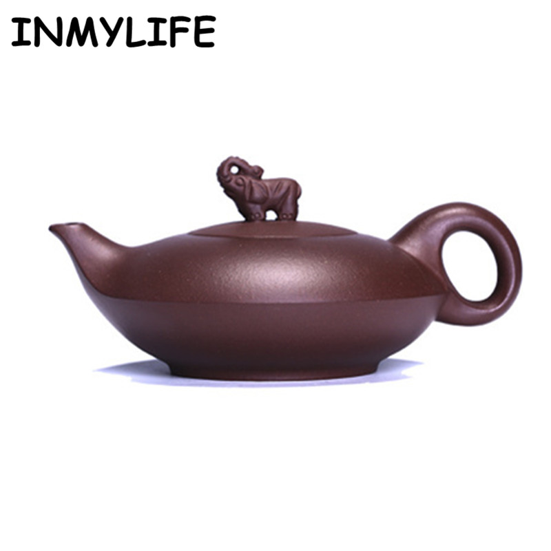 INMYLIFE Purple Clay Tea Pots Kung Fu Teapot Handmade Teapot KungFu Tea Set Tea Lover's Gift Travel Teapot Pure Tea Teapot 180ML