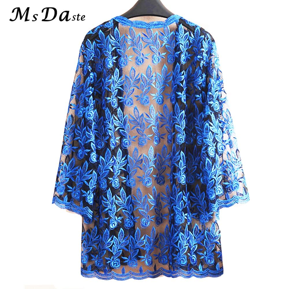 Summer Lace Cardigan Embroidery Women Casual Vintage Jackets Mujer Coat Jaqueta Feminino Casaco De La Big Plus Size 2XL~4XL W184