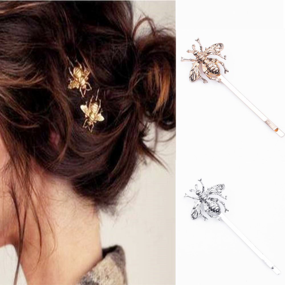 2018 1PC fashion style little bee hairpin girl creative design animal modeling hairpin hair ornaments