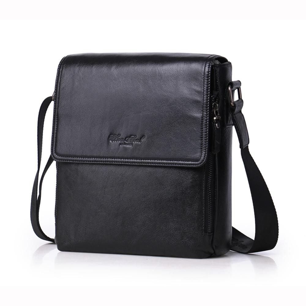 557a54798 CHEER SOUL Genuine Leather Men's Cow Leather business Bag Small Messenger  Bag Casual Travel Crossbody Shoulder Bag Male Handbag