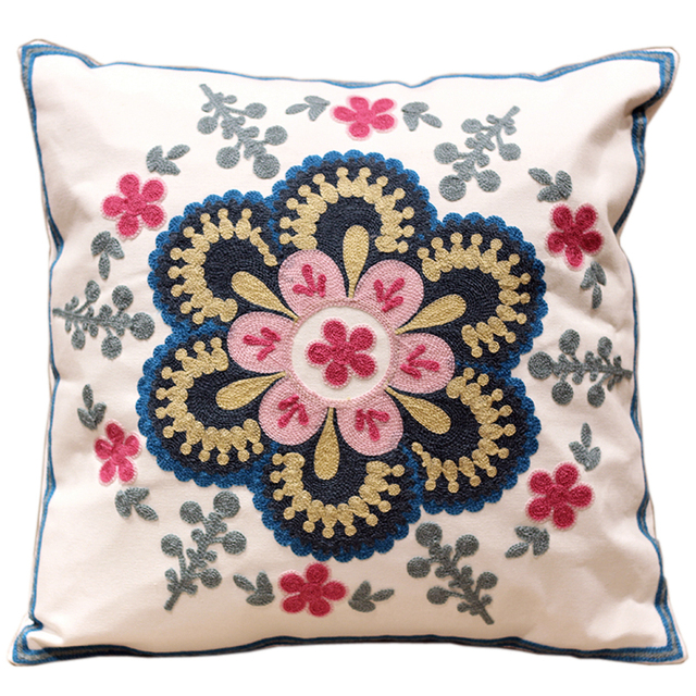 T Cushion Sofa Cover Laptop Desk Aliexpress.com : Buy Modern Design Flowers 100% Cotton ...