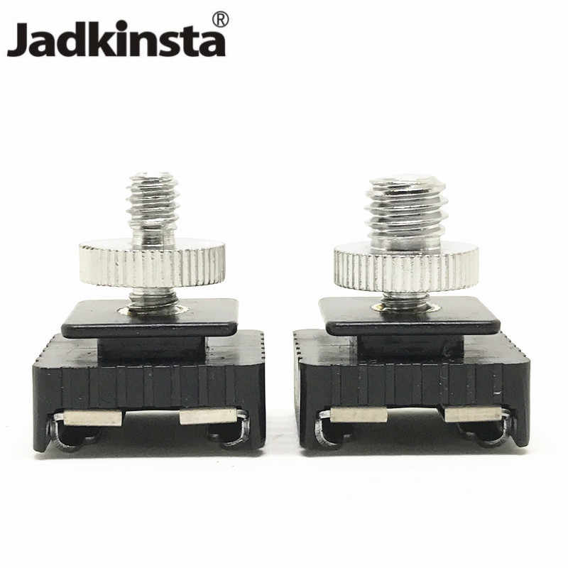 "Jadkinsta Metal Flash Hot Shoe Mount Adapter to 1/4"" Screw Thread For Studio Light Stand Tripod Camera Accessories"