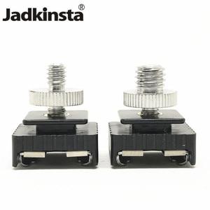 """Image 1 - Jadkinsta Adaptador de montura de zapata de Metal Flash novedoso, rosca de tornillo de 1/4 """"para trípode de estudio con soporte para luz, accesorios para cámara"""