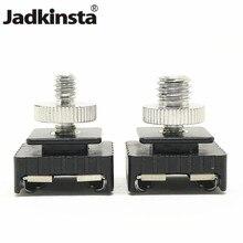 "Jadkinsta Metal flaş sıcak ayakkabı montaj adaptörü 1/4 ""vida dişi stüdyo ışığı standı Tripod kamera aksesuarları"