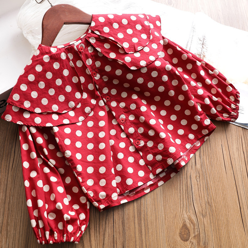 girls blouse 2019 spring kids clothes girls 2 to 8years Polka Dot shirts for children long sleeve shirts and tops girls shirts girls blouse 2019 spring kids clothes girls 2 to 8years Polka Dot shirts for children long sleeve shirts and tops girls shirts