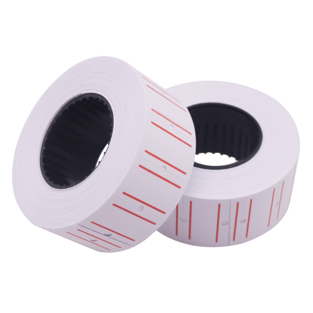600 Pcs 1 Roll Stationery Label Sticker 22*12mm Shops Home Students Schools Offices Product Price Tag Code Paper