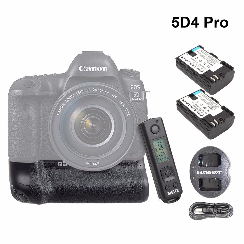 Meike MK 5D4 PRO батарейный блок с 2,4G беспроводным пультом дистанционного управления для камеры Canon 5D Mark IV как Canon BG E20 w/LP E6 аккумулятор и зарядное устройство