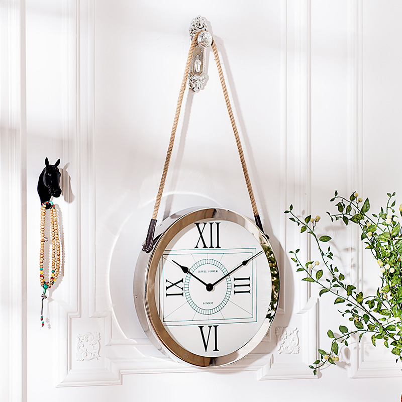 India Ranks Yield Odd Modern Living Room Bedroom Wall Clock Metal Decoration Envelope Rope Hanging Clocks In Floor From Home Garden On