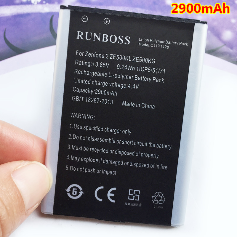Runboss High Quality 2900mAh C11P1428 <font><b>Battery</b></font> Fit For Asus Zenfone 2 Zenfone2 Laser <font><b>ZE500KL</b></font> ZE500KG Mobile Phone <font><b>Batteries</b></font>