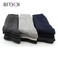 BFDADI 2019 High Quality Casual Men's Business Socks For Men Cotton Brand Crew Autumn Winter Multicolor Socks 12 Pairs Big Size