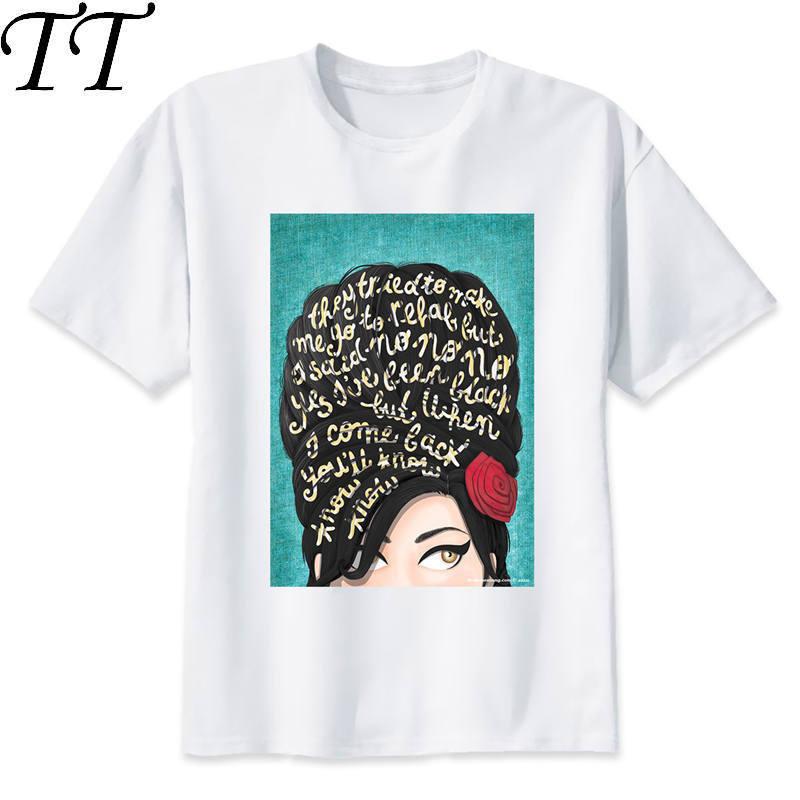amy winehouse T-Shirt men 2019 Summer fashion tshirt casual white print t shirt for male comfortable boy top tees M8005 Футболка