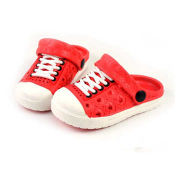 2017 New Summer Baby Boys Girls Sandals Soft Clogs Breathable Shoes Children Slippers 4 Colors - Red, 3