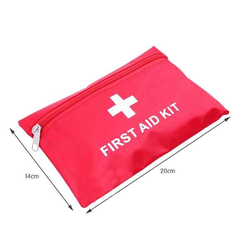 200 pcs Rode Mini Draagbare Waterdichte Outdoor Ehbo-kit EVA Tas Voor Emergency Behandeling In Reizen En Thuis