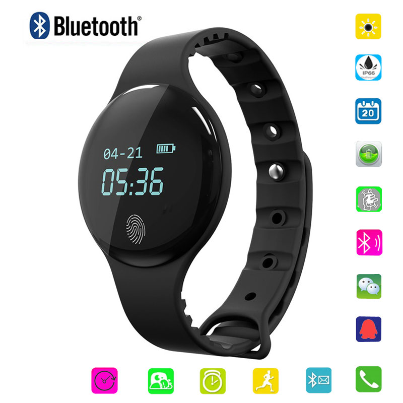 Bluetooth Smart Watch hombres mujeres impermeable pulsera Fitness Tracker Wristband deportes podómetro Smartwatch para Ios Android