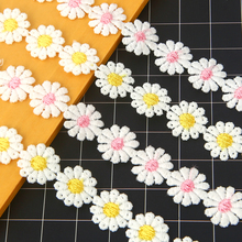 Flower Embroidered Lace Ribbon Fabric Water Soluble Polyester  Bottle Coat Clothing Handmade Decorative Accessories Lace Edge недорго, оригинальная цена