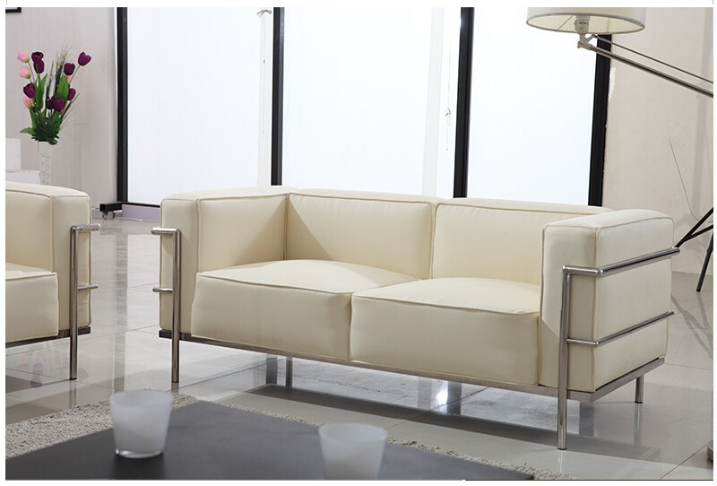 Le Corbusier Style LC3 Sofa 3-seat or Loveseat 2-seat  (3)