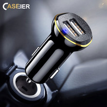 Caseier автомобильное зарядное устройство 3.1A (Real) Быстрая зарядка для Xiaomi Redmi Note 5 6 7 Pro huawei P20 Lite Автомобильное USB зарядное устройство для iPhone 7 прикуриватель автомобильное зарядное устройство
