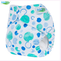 AnAnBaby With Hip Snaps Cartoon Baby Diapers Baby Cloth Diapers Reusable With One Microfiber Inserts To