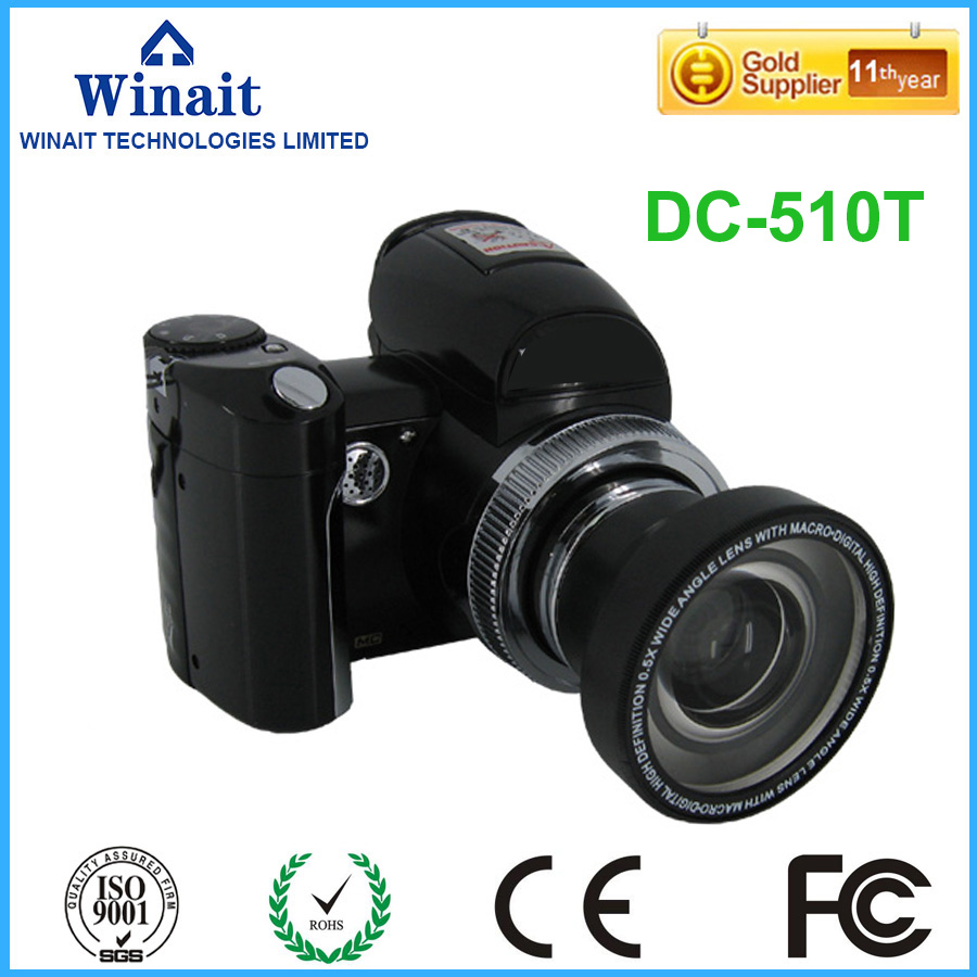 2017 Hot Camera DSLR Max 16MP 2.4 TFT LCD Screen Compact Digital Camera Wide Angle Lens 8x Digital Zoom Video Recorder DC-510T aputure digital 7inch lcd field video monitor v screen vs 1 finehd field monitor accepts hdmi av for dslr