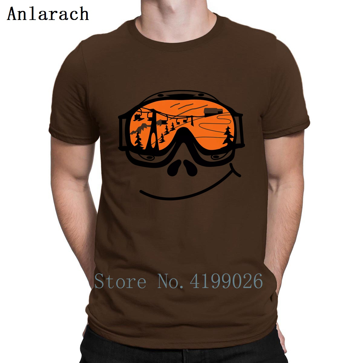 Ski Goggles Tshirt Tops Custom Anti-Wrinkle Comfortable Clothing T Shirt Letter Spring Size S-3xl
