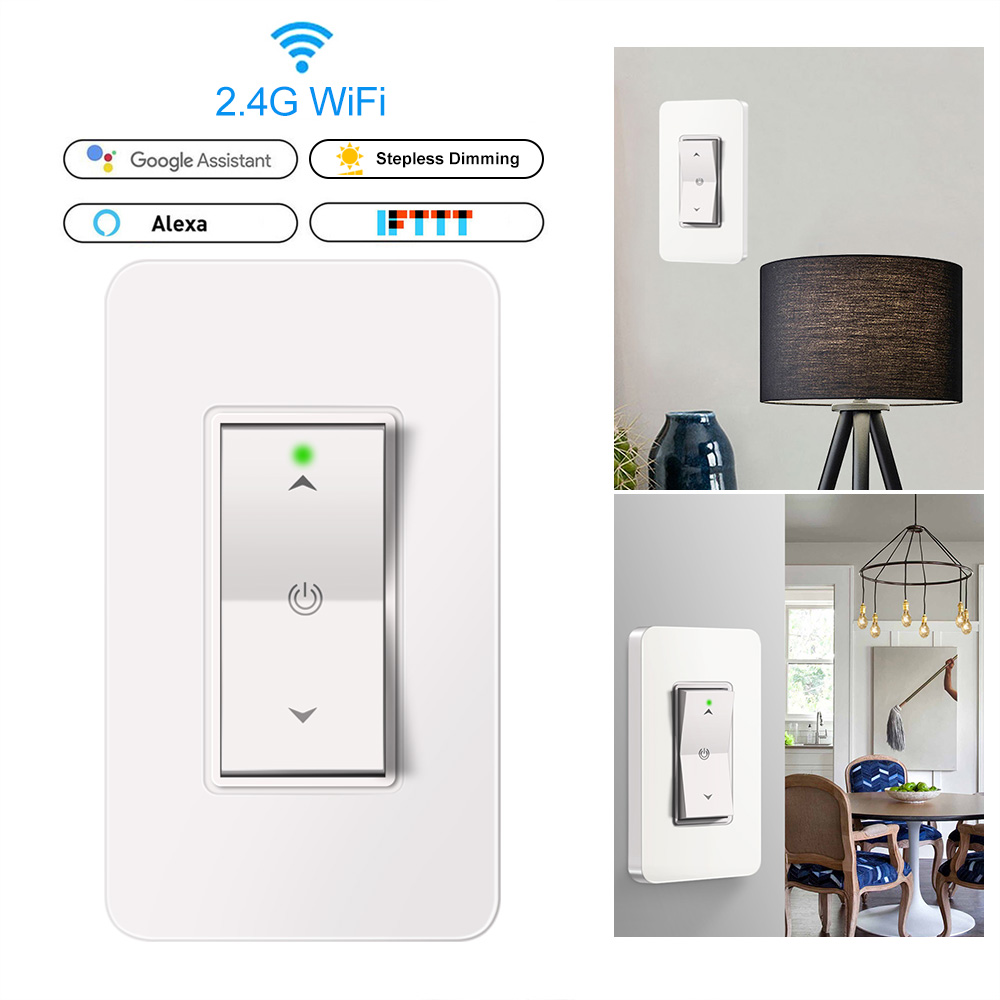 Us Smart Light Dimmer In Wall 2 4ghz Wifi Light Switch