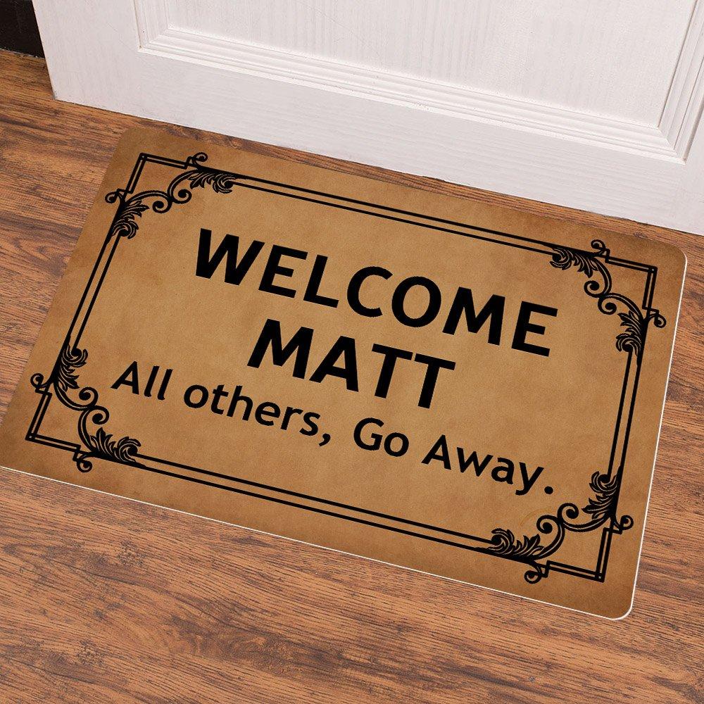 Welcome Matt All Others Go Away Entrance Floor Mat Funny Doormat Door Mat Decorative Indoor Outdoor Non Woven Fabric Top Mat Aliexpress