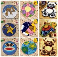 2018 Latch Hook Rug Kits DIY Needlework Unfinished Crocheting Rug Yarn Cushion Mat Cartoons pattern Embroidery Carpet embroidery
