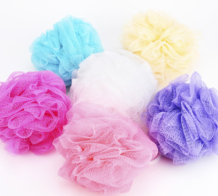 1pcs Colorful bath ball color nylon bath ball bath rub quality bath flowers toiletri Party holiday gifts color sent randomly
