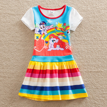 Wholesale Baby girl dress my little pony summer cotton child dress girl wear kid clothes children dress baby girl clothes Q9113