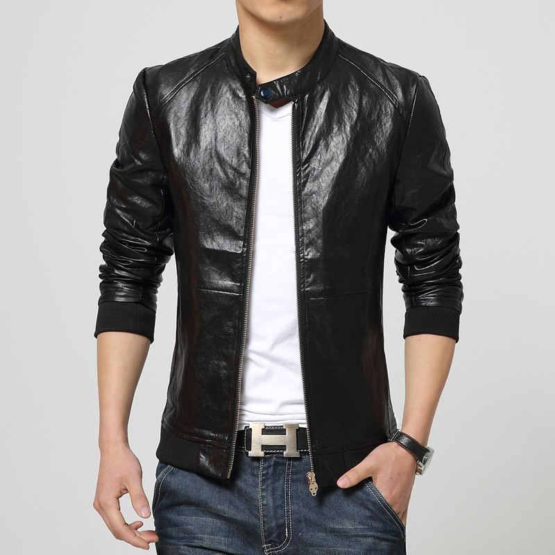 2017 New Men's Leather Jackets Boutique Men Fashion Casual Coat ...