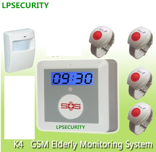 LPSECURITY 16 wireless alarm zones GSM senior daily life SOS GSM home alarm system elderly care alarm emergency call system yobangsecurity wireless gsm sms senior telecare home security alarm system with sos call for elderly care mobile phone control