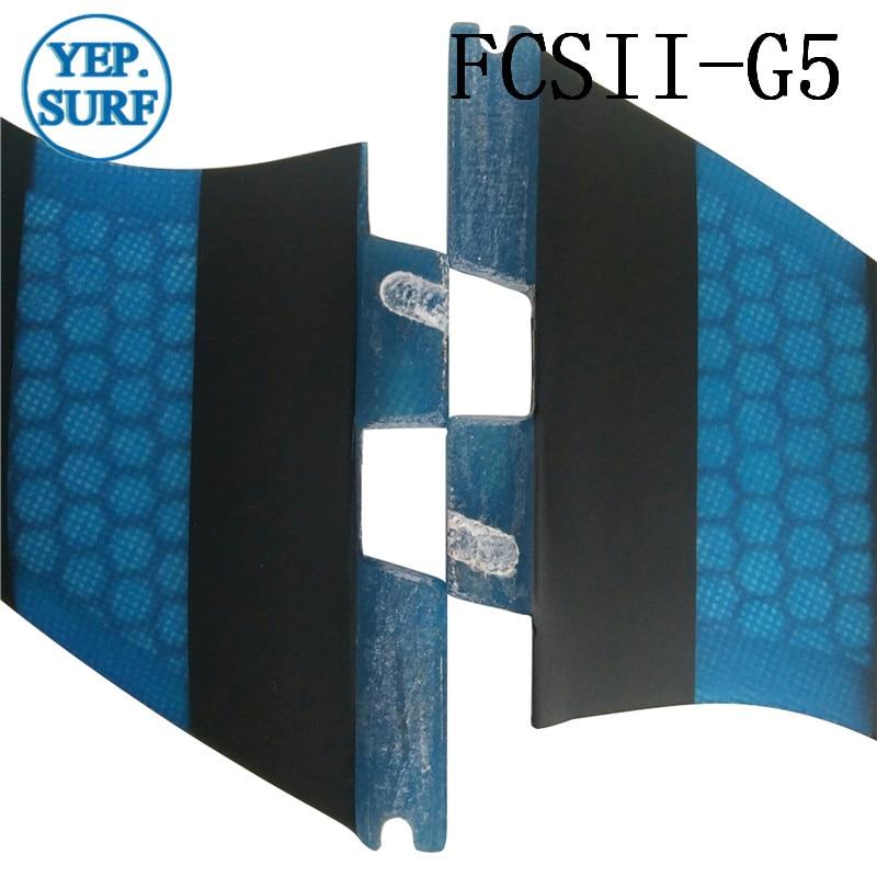 Surf FCS II G5 Fins, fcsii mavi Fiberglas Pambıq Fin FCS 2 SUP - Su idmanı - Fotoqrafiya 5