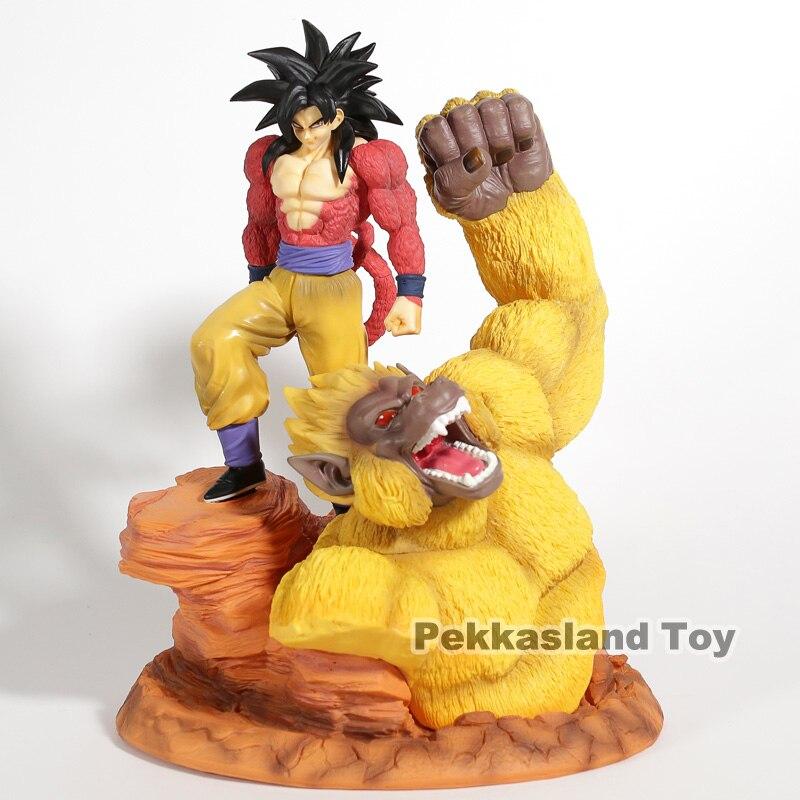 Dragon Ball Z Super Saiyan 4 fils Goku or grands singes scène Statue résine Figure à collectionner modèle jouet