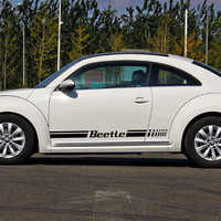 1 Pair BEETLE MOTORSPORTS Rline Door Stickers Decal Car Styling For vw beetle volkswagen beetle car accessories