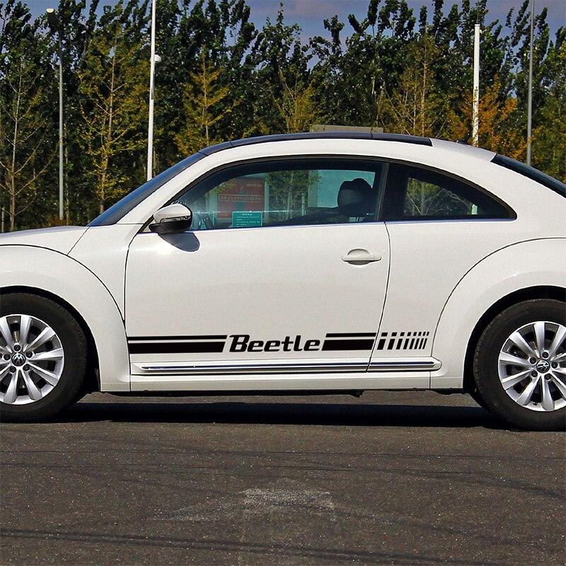 1 Par MOTORSPORTS Rline BESOURO Porta Adesivos Decalque acessórios do carro Estilo Do Carro Para vw beetle volkswagen beetle