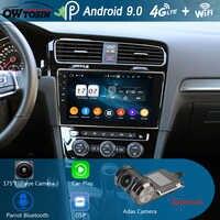 "10.1 ""IPS 8Core 4G + 64G Android 9.0 เครื่องเล่นดีวีดีรถยนต์สำหรับ Volkswagen Golf 7 VII VW Golf MK7 R 2013-2019 GPS วิทยุ DSP CarPlay Parrot"