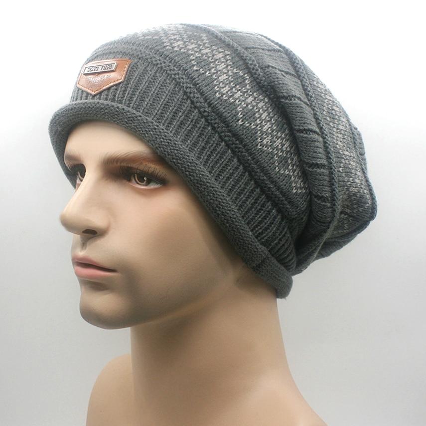 Winter cap men fleece mens designer skullies beanies gorros mujer invierno  de lana mans caps and hats winter cap men brand e2626ffbf5a