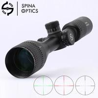 SPINA OPTICS Riflescope Hunting 4 12X44 adjustable Mil Dot Red Green Reticle Tactical Optics illuminate Sight