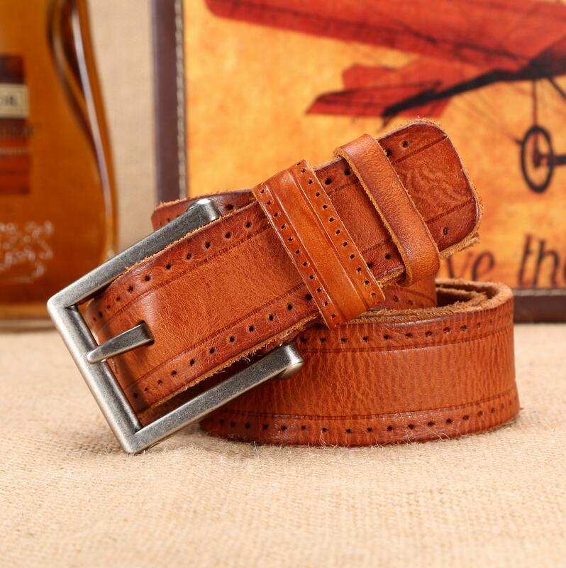 En 2018, la nouvelle tête couche de ceinture en cuir a pas de revêtement et main-ceinture en cuir.