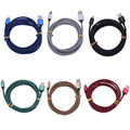 IOS cable Cargador 0.25 m 1 m 2 m 3 m de Metal de nylon Trenzado de sincronización de datos de carga usb cable cable para iphone 5s 7 7 plus se 6 6 s