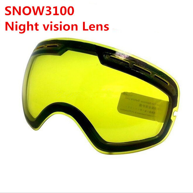 Skiing Eyewear Snow Motocross Snowboard Goggle Double Night Vision Lens Increase Brightness Cloudy Night To Use SNOW3100 ,G201
