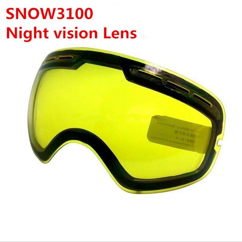 Ски Очила Сноуборд Сноуборд Сноуборд Очила двойно Нощно виждане Обектив увеличава яркостта Облачно през нощта използва SNOW3100 NCE33