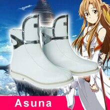 2017 Anime Sword Art Online SAO Asuna Yuuki Cosplay Boots Shoes Costumes