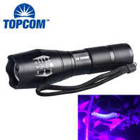 TopCom 10W Wide UV Light Waterproof High Power Zoomable 390nm 365nm g700 Flashlight UV Worms Detection Flashlight For Farm